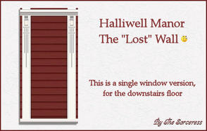 Sims 2 — Halliwell Manor wall single window downstairs by thesorceress — This the wall for a single window matching the