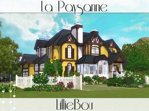 Sims 3 — La Paysanne by lilliebou — This house is for a family of about 6 sims. First floor: -Garage -Kitchen -Dining