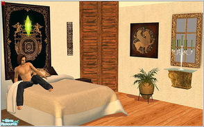 Sims 2 — cosy bedroom by Birgit43 — mixed ojects for a cosy bedroom