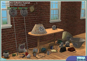 Sims 2 — Crazy Clutter Collection Superset by MsBarrows — A collection of decorative clutter based around the aspiration