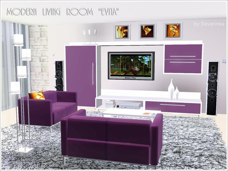4esf modern furniture for sims2.