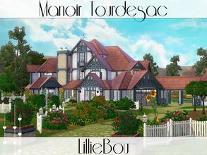 Sims 3 — Manoir Tourdesac by lilliebou — This house is for a family of about 8 Sims. First floor: -Bedroom -Bathroom +