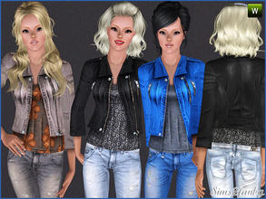 Sims 3 — 242 Casual jacket by sims2fanbg — .:242 Casual set:. Jacket in 3 recolors,Recolorable,Launcher Thumbnail. I hope