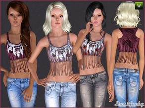 Sims 3 — 242 Casual top  by sims2fanbg — .:242 Casual set:. Top in 3 recolors,Recolorable,Launcher Thumbnail. I hope u