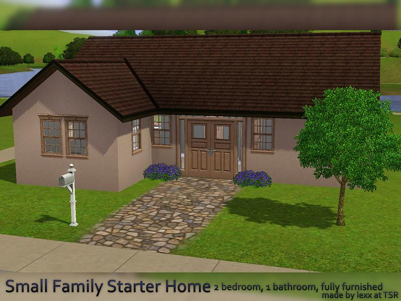 lexx's small family starter home - base game - no cc
