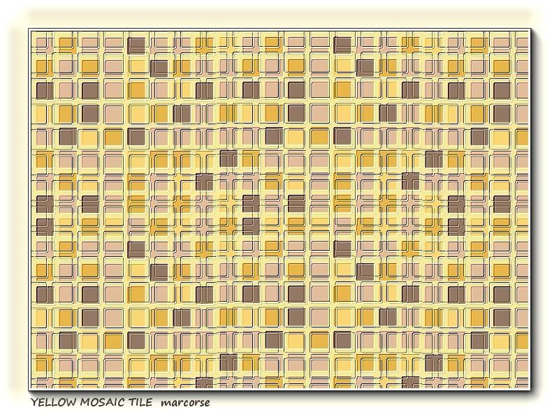 Yellow Mosaic Tile Pattern