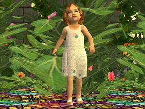 Sims 2 — White Rosey Dress by zaligelover2 — A dress for toddler girls.