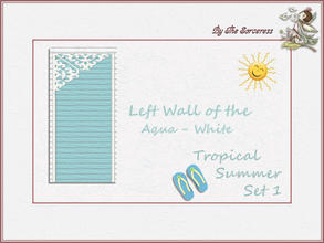 Sims 2 — Left Wall A_W Tropical Summer set 1 by thesorceress — These are the first of 8 double sets of Walls and Floors