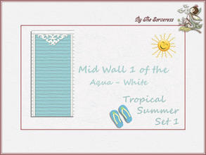 Sims 2 — JJs Mid Wall 1 A_W Tropical Summer set 1 by thesorceress — These are the first of 8 double sets of Walls and