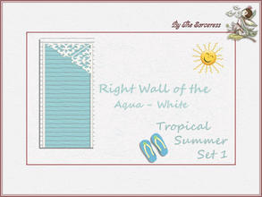 Sims 2 — Right Wall A_W Tropical Summer set 1 by thesorceress — These are the first of 8 double sets of Walls and Floors