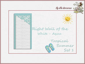 Sims 2 — Right Wall W_A Tropical Summer set 1 by thesorceress — These are the first of 8 double sets of Walls and Floors