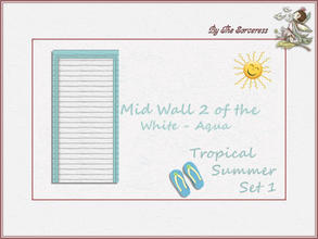 Sims 2 — Mid Wall 2 W_A Tropical Summer set 1 by thesorceress — These are the first of 8 double sets of Walls and Floors