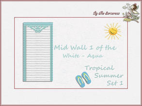 Sims 2 — Mid Wall 1 W_A Tropical Summer set 1 by thesorceress — These are the first of 8 double sets of Walls and Floors