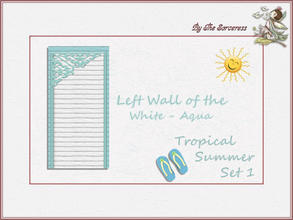 Sims 2 — Left Wall W_A Tropical Summer set 1 by thesorceress — These are the first of 8 double sets of Walls and Floors