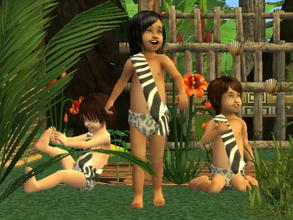 Sims 2 — Complete Jungle Clothing Set - TodF+TodM zebra by zaligelover2 — An outfit for your jungle sims. Part of