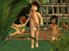 Sims 2 — Complete Jungle Clothing Set - TodF+TodM tiger by zaligelover2 — An outfit for your jungle sims. Part of