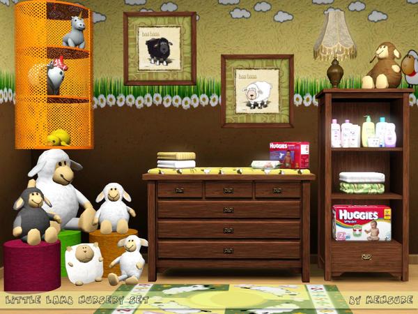 Mensure S Little Lamb Nursery Set