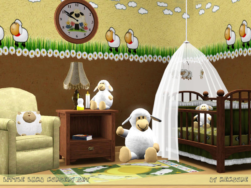 Mensure S Little Lamb Nursery Set