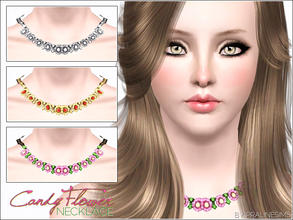 Sims 3 — Candy Flower Necklace by Pralinesims — New beautiful, shiny necklace with cute flowers! You can find my other