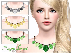 Sims 3 — Sugar Leaves Necklace by Pralinesims — New beautiful, shiny necklace with cute leaves! You can find my other