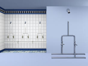 Sims 3 — Basic Cloakroom Shower (Joined) by Cyclonesue — Simple no-frills communal shower. Note: unless your Sims are