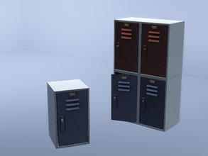 Sims 3 — Stackable locker - closed with key by Cyclonesue — Mix and match a wall of lockers! By Cyclonesue for TSR TSRAA