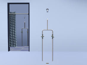 Sims 3 — Basic Cloakroom Shower (Single) by Cyclonesue — Simple no-frills single or communal shower. Note: unless your