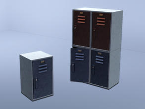 Sims 3 — Stackable locker - locked (no key) by Cyclonesue — Mix and match a wall of lockers! By Cyclonesue for TSR TSRAA