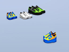 Sims 3 — Children's Training Shoes by Cyclonesue — So kids do gym too - except their trainers are waaaay cooler! Mesh and