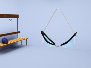 Sims 3 — Hanging Swimming Goggles by Cyclonesue — Designed to hang from the pegs of my changing-room bench (from the same