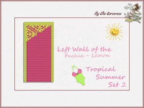 Sims 2 — JJs Left Wall F_L Tropical Summer set 2A by thesorceress — This is the second set in The Tropical sets series.