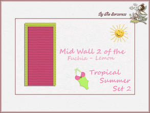 Sims 2 — JJs Mid Wall 2 F_L Tropical Summer set 2A by thesorceress — This is the second set in The Tropical sets series.