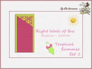 Sims 2 — JJs Right Wall F_L Tropical Summer set 2A by thesorceress — This is the second set in The Tropical sets series.