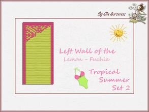 Sims 2 — JJs Left Wall L_F Tropical Summer set 2B by thesorceress — This is the second set in The Tropical sets series.