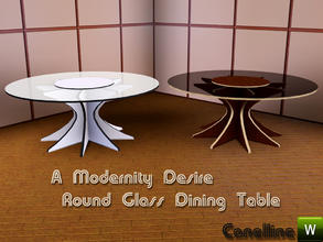 Sims 3 — A Modernity Desire. Large Round Glass Table by Canelline. by Canelline — A Modernity Desire. Large Round Glass