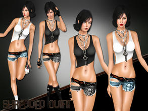 Sims 3 — Shredded Outfit  by saliwa — No Description