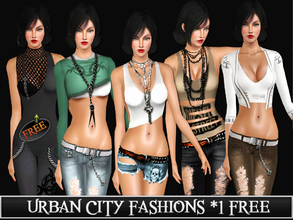 Sims 3 — Urban City Fashions by saliwa — Well this is my new set with 5 outfits and 1 free. All you see what will you