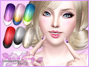 Sims 3 — French Candy Nails by Pralinesims — New beautiful, realistic nails with gradient effect and smile-line. In CAS