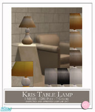 Sims 2 — Kris Table Lamp by DOT — Kris Table Lamp. 1 Mesh plus recolors. Sims 2 by DOT of The Sims Resource.
