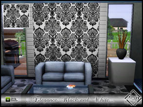 Sims 3 — Elegance Black and White by Devirose — By Devirose-Created with Tsr Workshop,base game compatible-Emjoy^^