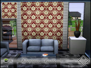 Sims 3 — Elegance Bordeaux by Devirose — By Devirose-Created with Tsr Workshop,base game compatible-Emjoy^^