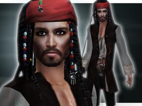 Sims 2 — Johnny Depp As Jack Sparrow by Cleotopia — Johnny Depp as Jack Sparrow in Pirates Of The Carribean. Hair mesh by