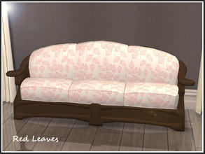 Sims 2 — Baroccoco Loveseat Fabric Patterns 4 - Red Leaves by portiapudding — A set of 10 patterned fabrics for the