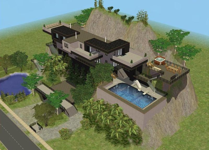 RamboRocky90's Cliffside House on dallas home designs, harris home designs, asheville home designs, garner home designs, minecraft cliffside house designs, chapel hill home designs, alexander home designs, texas home designs, hudson home designs, small hillside home designs, mountain home plans and designs, north carolina home designs, little house home designs, minecraft mansion designs, mountainside home plans and designs, best sims 3 house designs, sims 2 house designs,