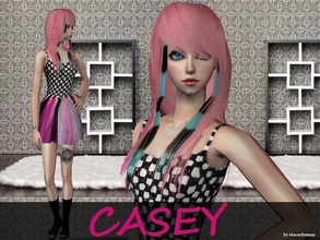 Sims 2 — Casey by staceylynmay2 — CC: Skintone,Eyes,Hair colour,Lipstick,Mesh,Outfit - Me. Eyebrows,Lip cover - Estudio.