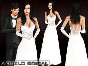 Sims 3 — Angelo Bridal by saliwa — Wedding Dress for Your Sims