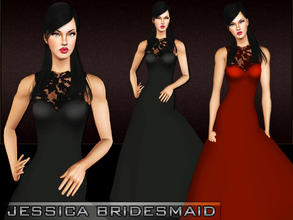 Sims 3 — Jessica Bridesmaid by saliwa — Formal Dress For Your Sims.