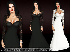 Sims 3 — Jasmine Bridesmaid by saliwa — Formal Dress For Your Sims.