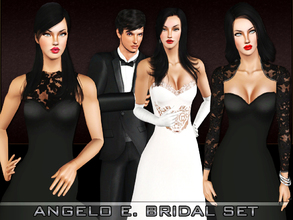 Sims 3 — Angelo E. Bridal Set by saliwa — Formal Set For Your Sims.