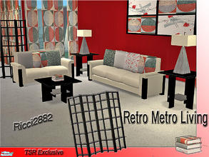 Sims 2 — Retro Metro Livingroom by TheNumbersWoman — Happy SA Themes Week. A Little Metro type Retro Set! Collection file